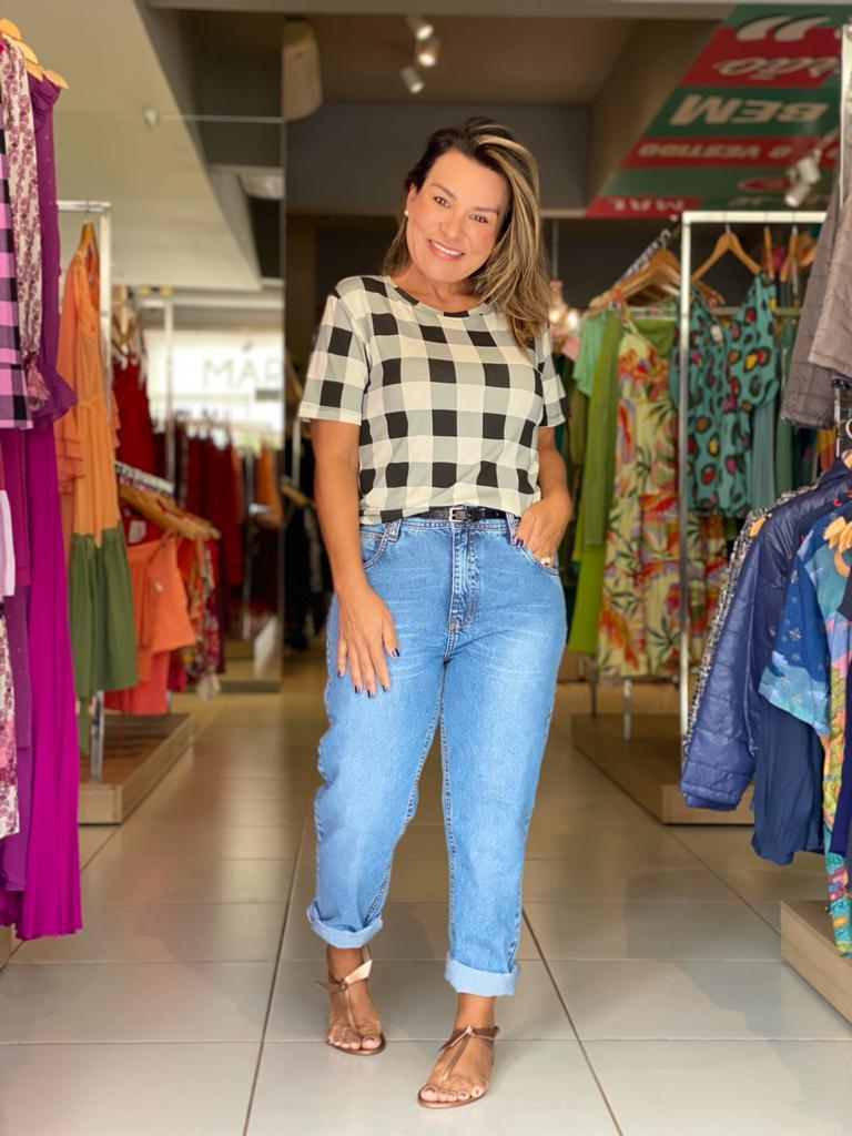 Calça jeans Mom