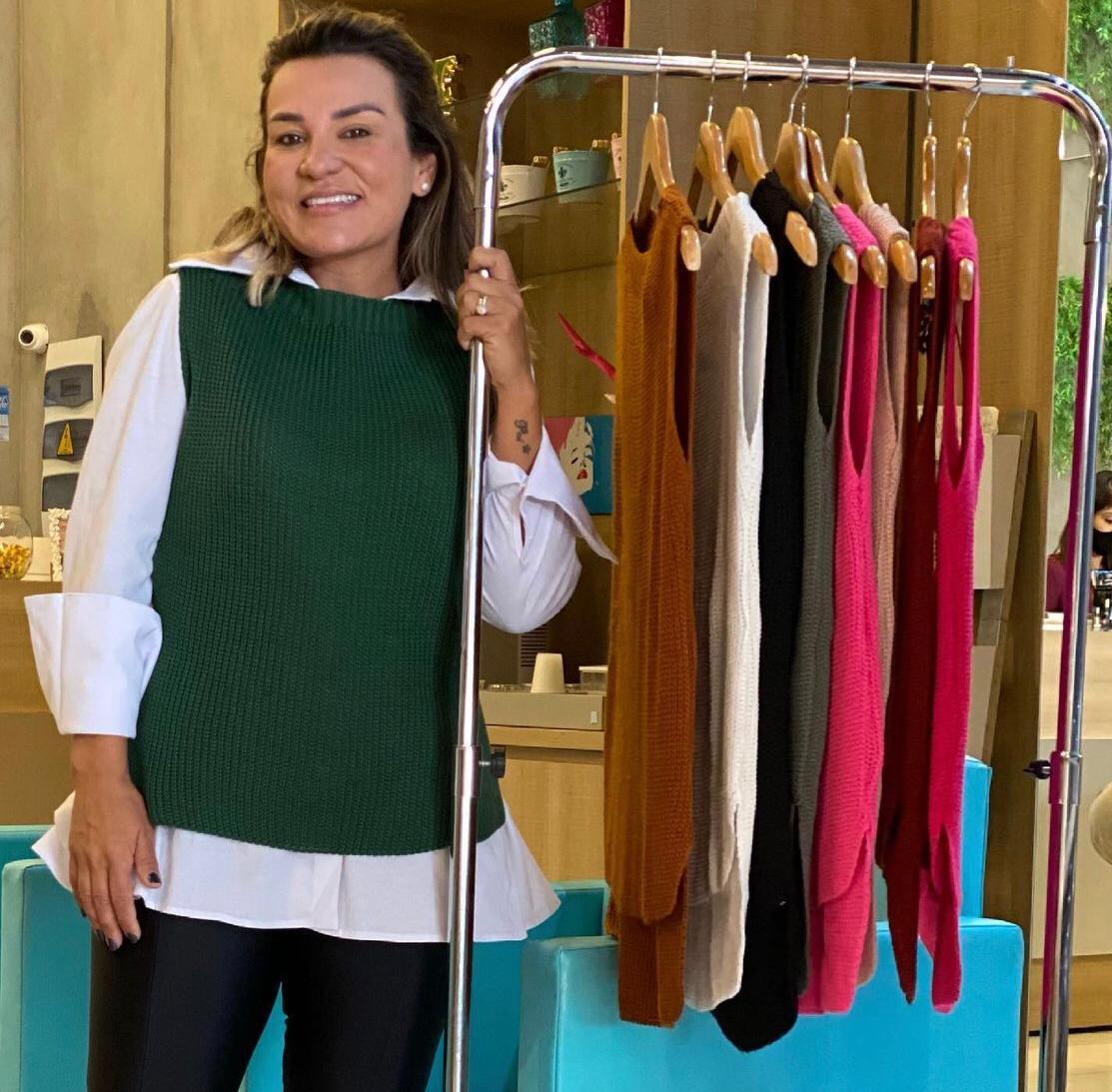 Camisa em tricoline