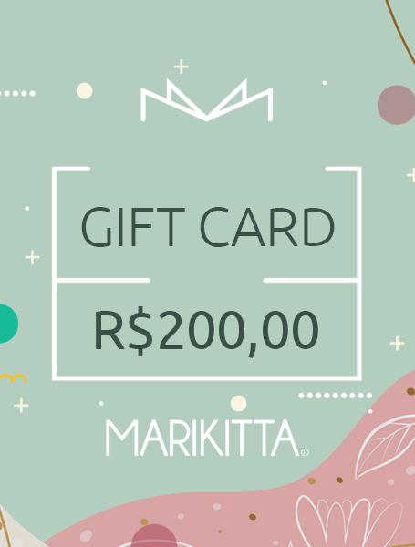 Gift Card - R$ 200,00