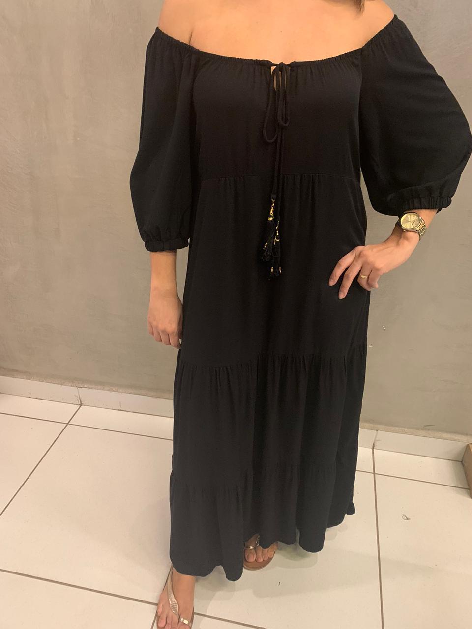 vestido com amarração midi