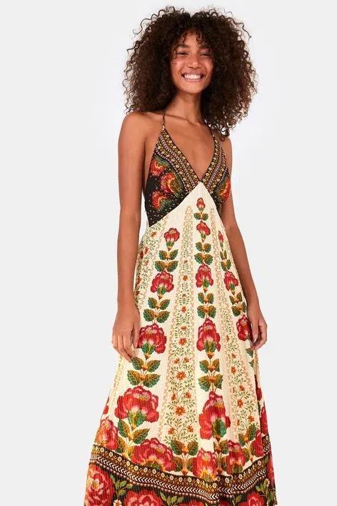 Vestido cropped Flor nascente