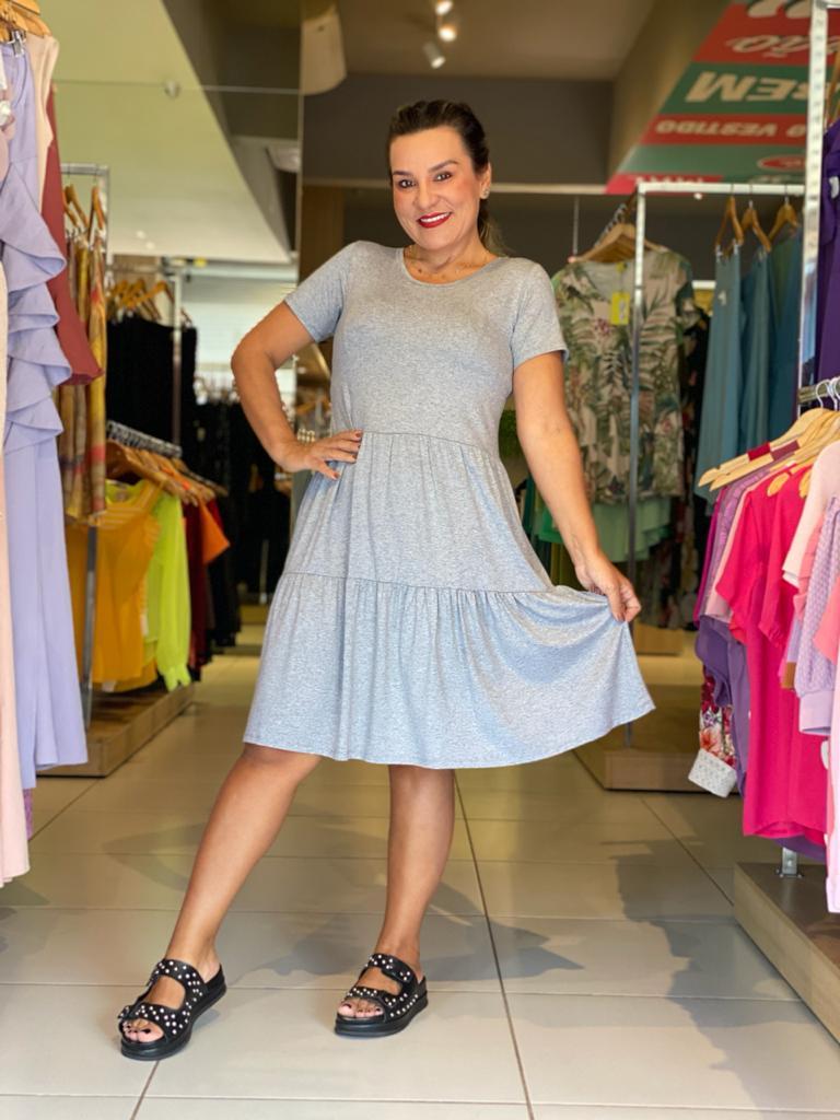Vestido curto em malha