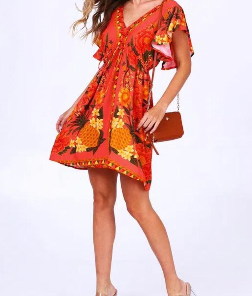 vestido curto paraiso