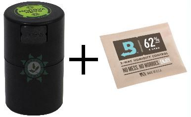 KIT POTE DARK VACUUM 120ML PRETO + BOVEDA 4G