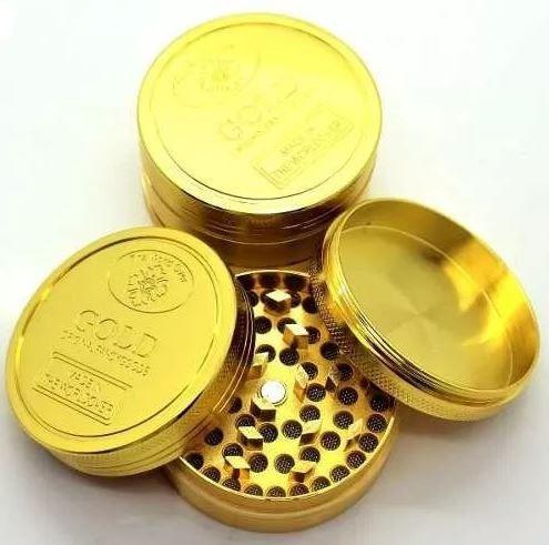 TRITURADOR AÇO GOLD (3 PARTES)