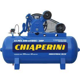 Compressor de Ar Blue 15/200 Com Motor 3 hp - Chiaperini