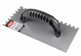 Desempenadeira de Aço com Cabo Plástico Dentada Pequena - Max Metalúrgica