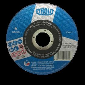 "Disco de Corte 4 1/2"" x 1,0mm x 7/8"" Basic - Tyrolit"