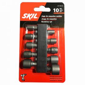 Kit de Soquetes para Parafusadeira com 10 Peças - Skil