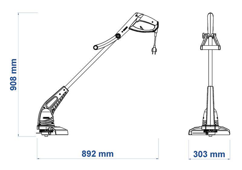 Aparador de Grama Eletrico 280mm 1500W AP1500T - Tramontina
