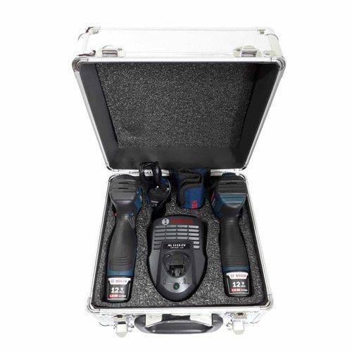 Combo 12V Furadeira/Parafusadeira GSR 120-LI Chave Parafusadeira de Impacto GDR 120-LI + Maleta De Alumínio - Bosch