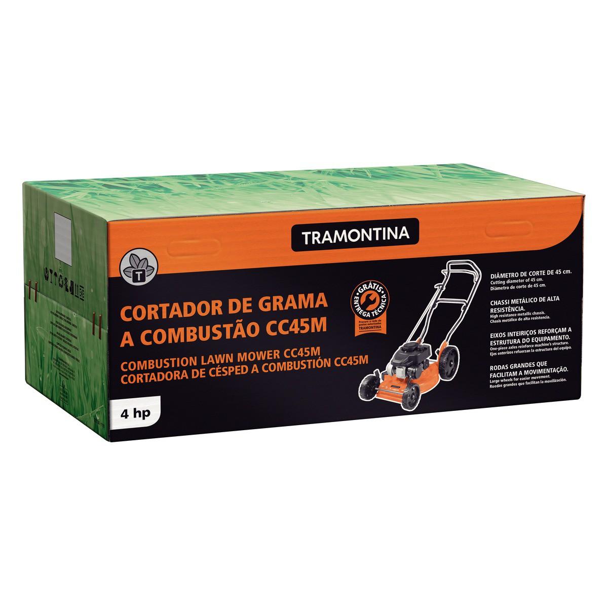 Cortador de Grama a Gasolina CC45M com Diâmetro de Corte de 450 mm Motor 4 hp e Chassi Metálico - Tramontina