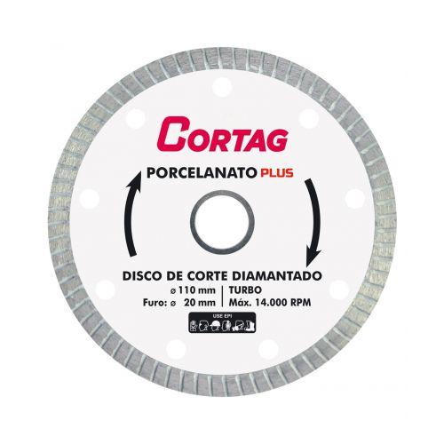 Disco de Corte Diamantado Turbo Porcelanato - Cortag