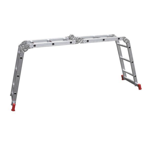 Escada Articulada 13 em 1 12 Degraus 3 X 4 Alumínio - Botafogo