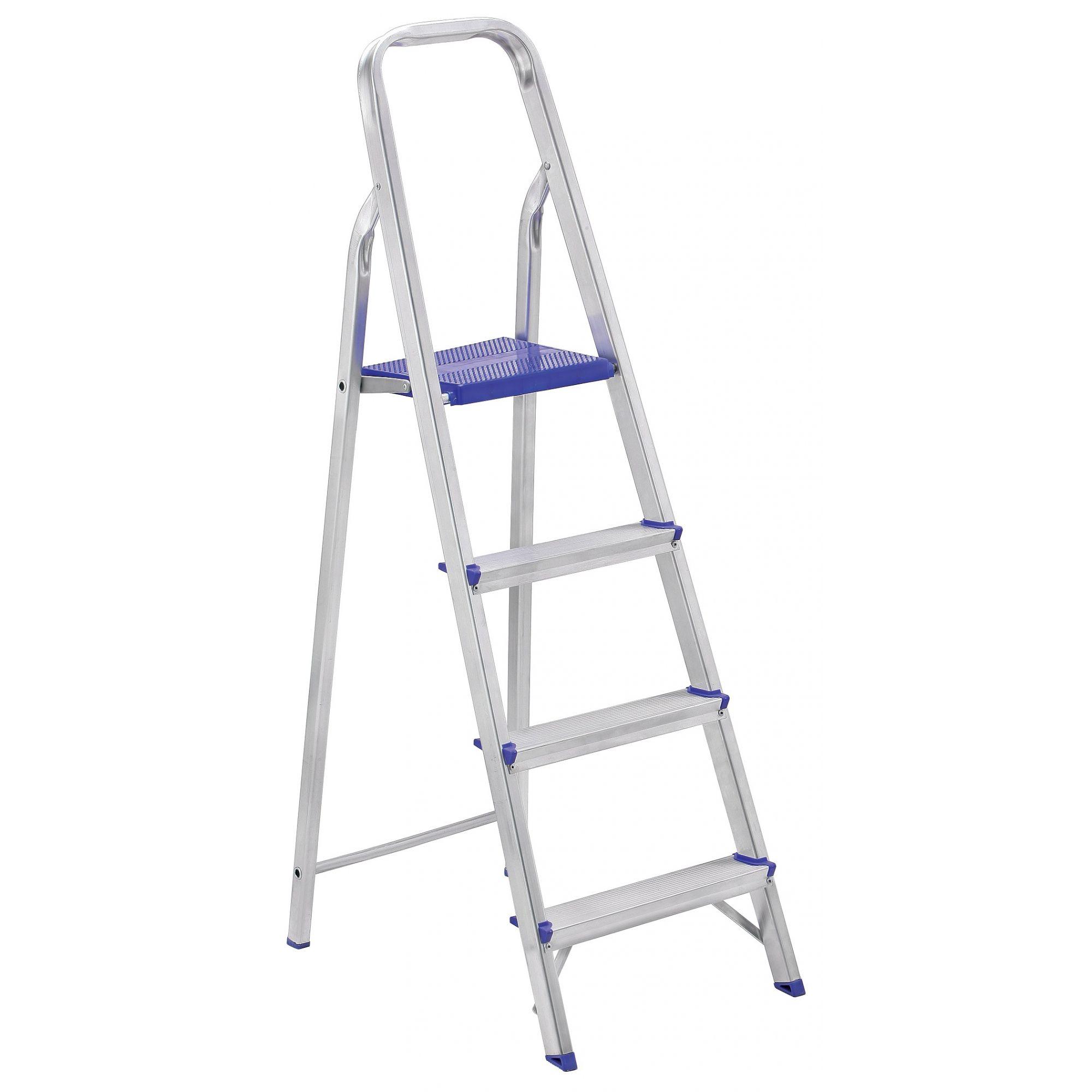 Escada Residencial em Alumínio 4 Degraus Prima - SBA