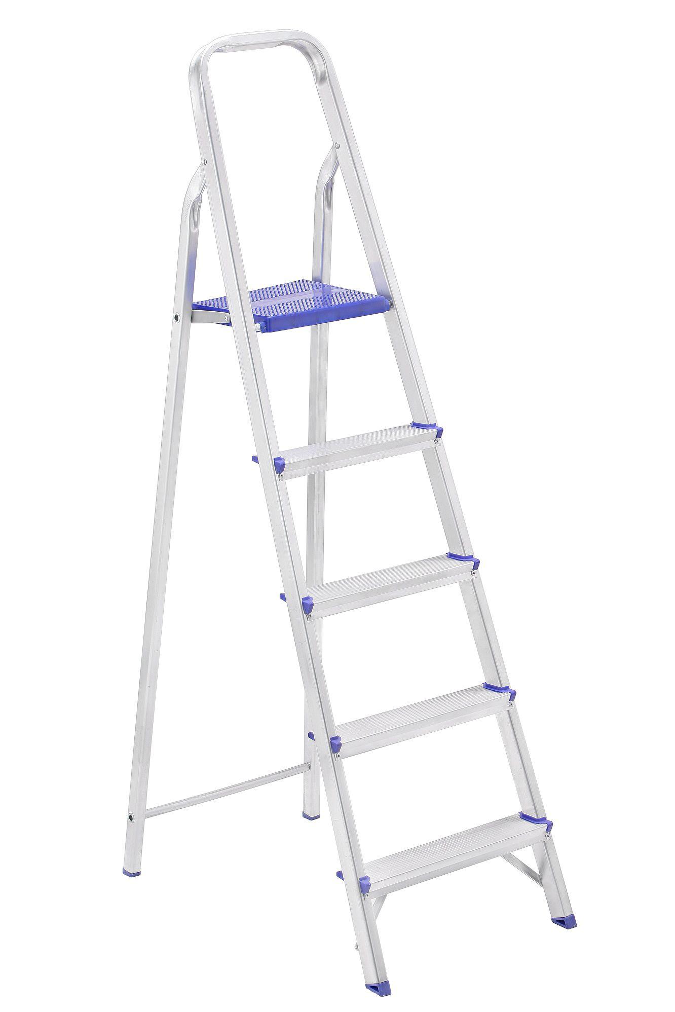 Escada Residencial em Aluminio 5 Degraus Prima - SBA