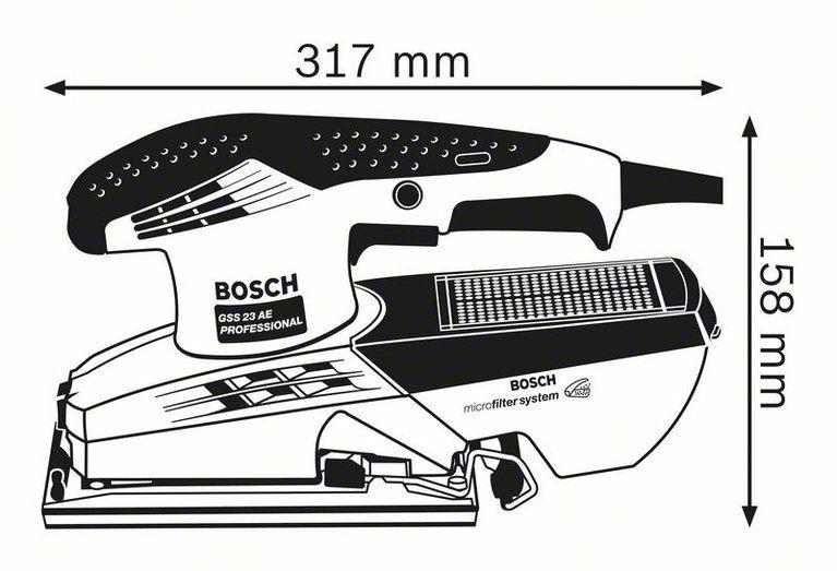 Lixadeira Oscilante GSS 23A 190W - Bosch