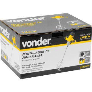 Misturador Elétrico de Argamassa MAV 1600 - Vonder