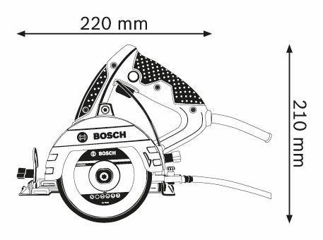Serra Mármore Titan 125mm 1500W GDC 151 + 1 Disco + Maleta - Bosch