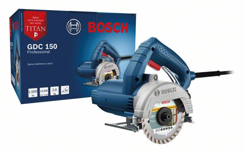 """Serra Mármore Titan 1500W 5"""" GDC 150 + 2 Discos - Bosch"""