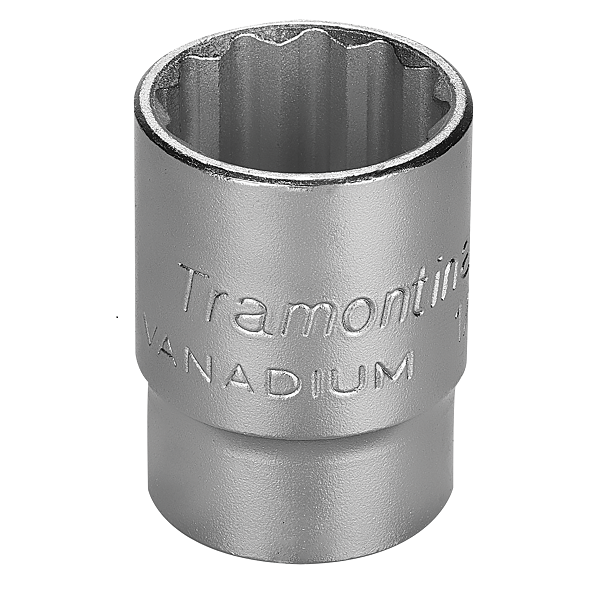 """Soquete Estriado em Aço Cromo Vanádio 19mm Encaixe 1/2"""" Pro - Tramontina"""