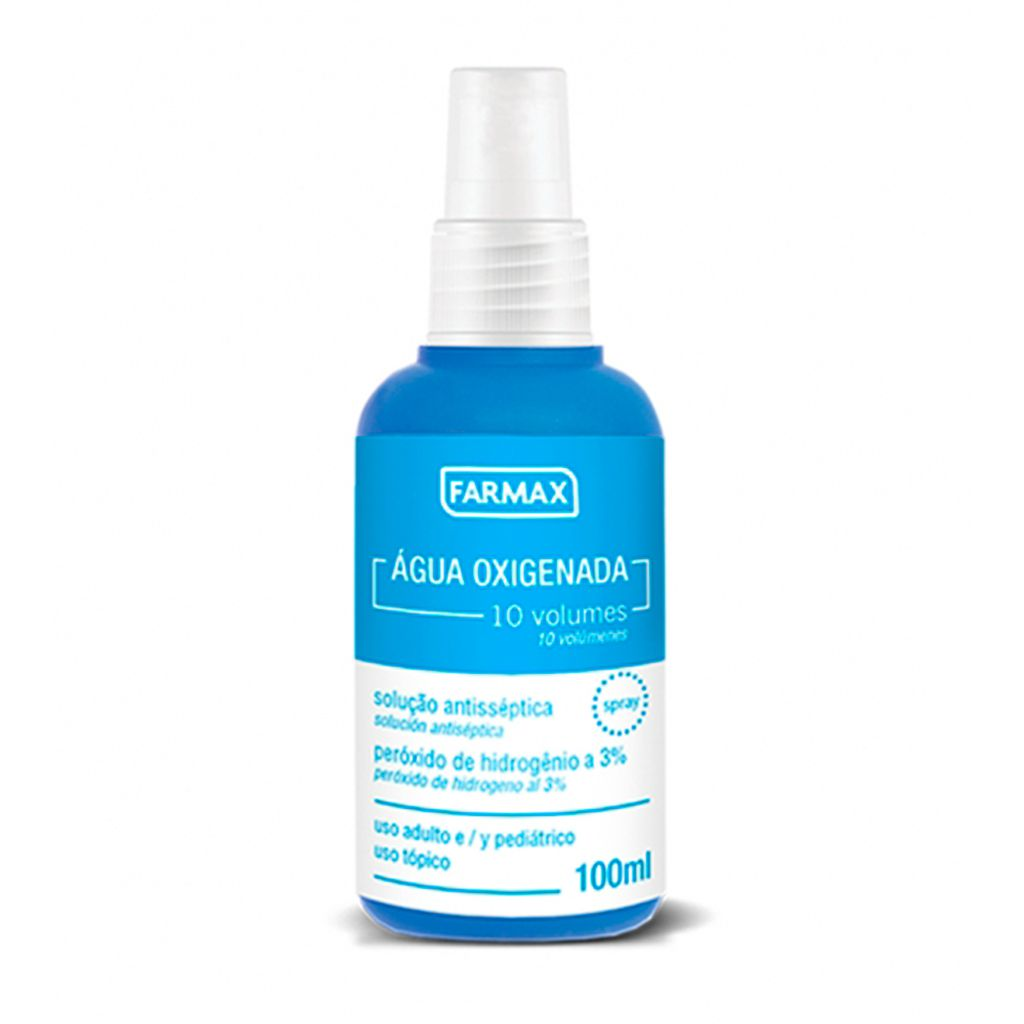 Agua Oxigenada 10vol  Antisséptica 100ml Spray Farmax