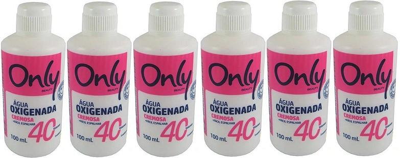 Aguá Oxigenada 40v  Volumes Cremosa 100ml Only 6 unidades