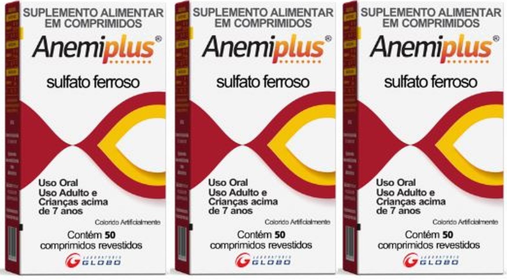 Anemiplus Sulfato Ferroso 270mg 50 CP 3 unidades
