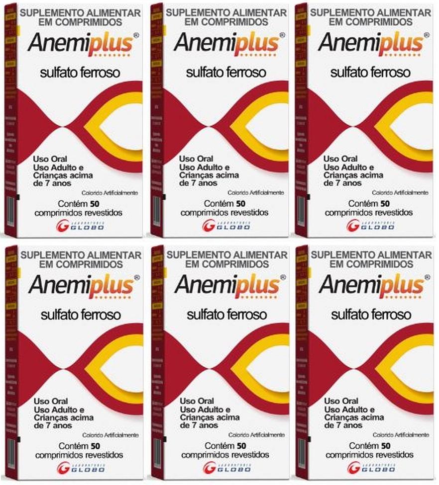 Anemiplus Sulfato Ferroso 270mg 50 CP 6 unidades
