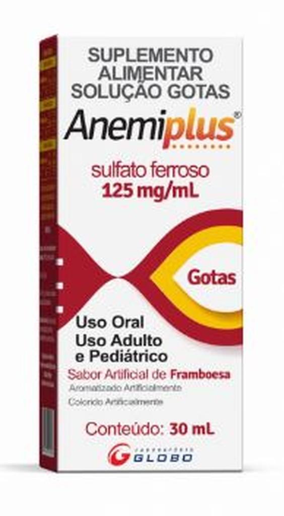 Anemiplus Sulfato Ferroso Gotas 125mg 30ml Framboesa