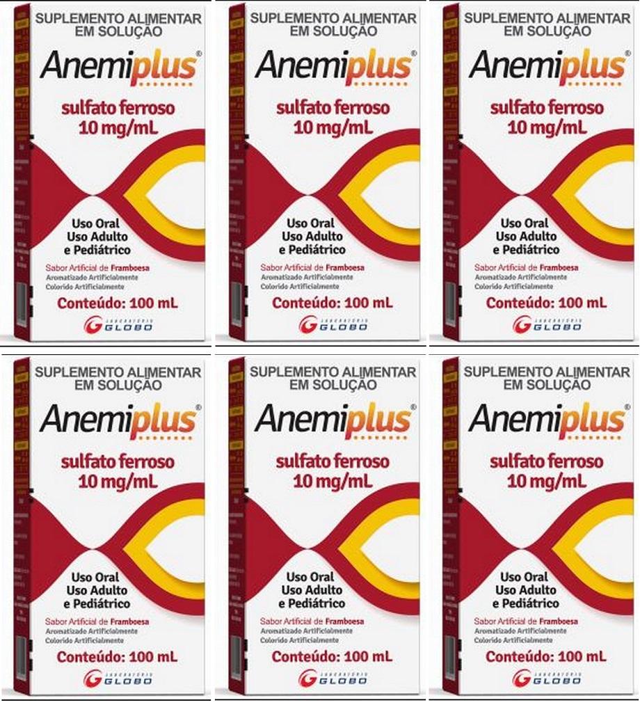 Anemiplus Sulfato Ferroso Solução 10mg/ml 100ml 6 unidades