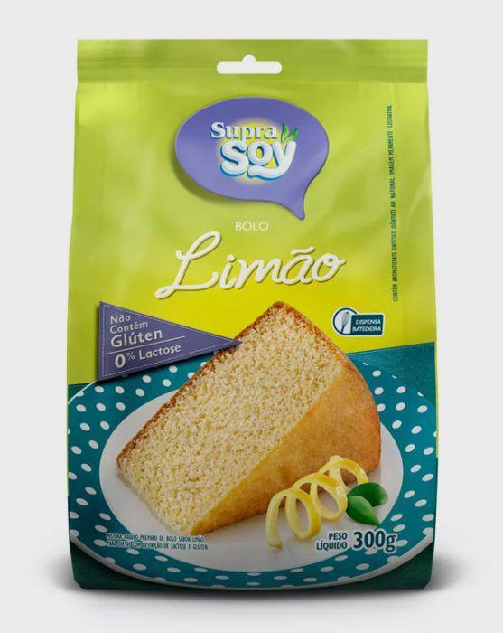 MISTURA PARA BOLO - LIMAO - S/LACTOSE/S/GLUTEN- 300GR - SUPRA SOY