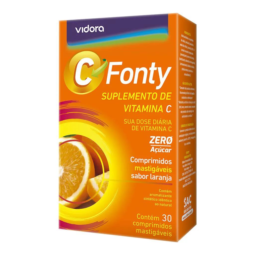 C Fonty Vitamina C 45mg 100% IDR 30 Cprs Mastigaveis