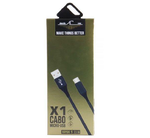 CABO MICRO USB DADOS/CARREGADOR  V8  REFORÇADO NYLON X1