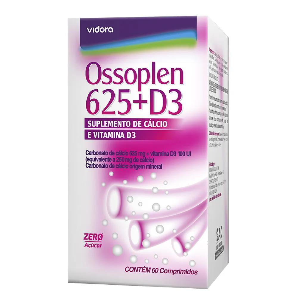 Cálcio Ossoplen 625mg + D3 60 Cápsulas Cálcio + Vitamina D
