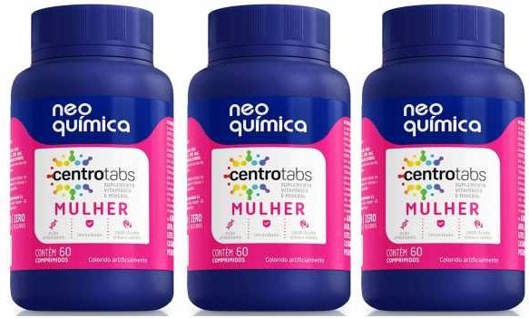 Centrotabs Mulher Multivitamínico 60 Cprs 3 unidades
