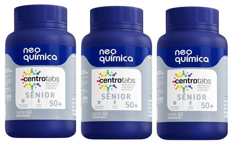 Centrotabs Senior 50+ Imunidade Energia 60 Cprs 3 unidades