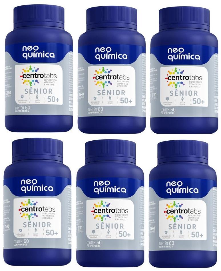 Centrotabs Senior 50+ Imunidade Energia 60 Cprs 6 unidades