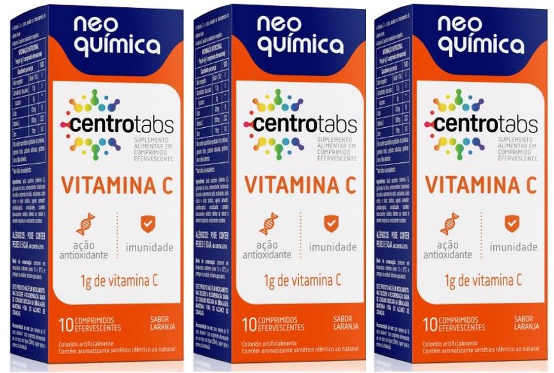 Centrotabs Vitamina C 1g 10 Cprs Efervescente 3 Unidades