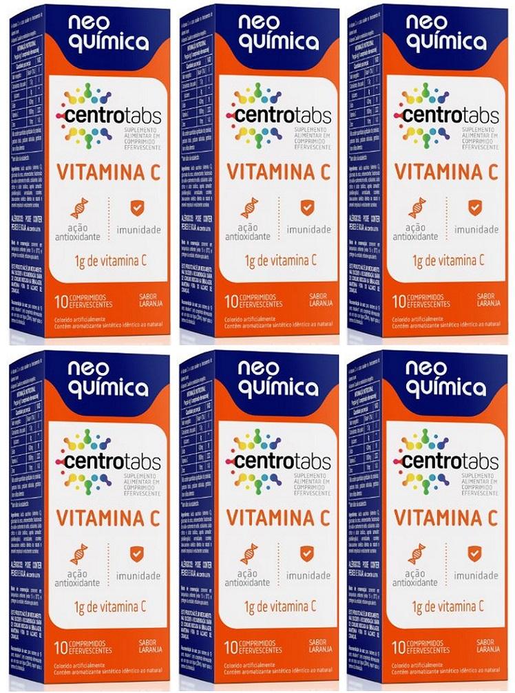 Centrotabs Vitamina C 1g 10 Cprs Efervescente 6 Unidades