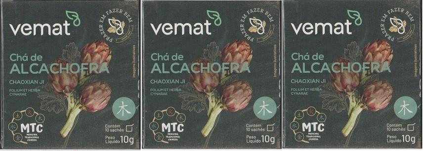 Cha Alcachofra (emagrecer diurético) 10 Saches 10g 3 Caixas