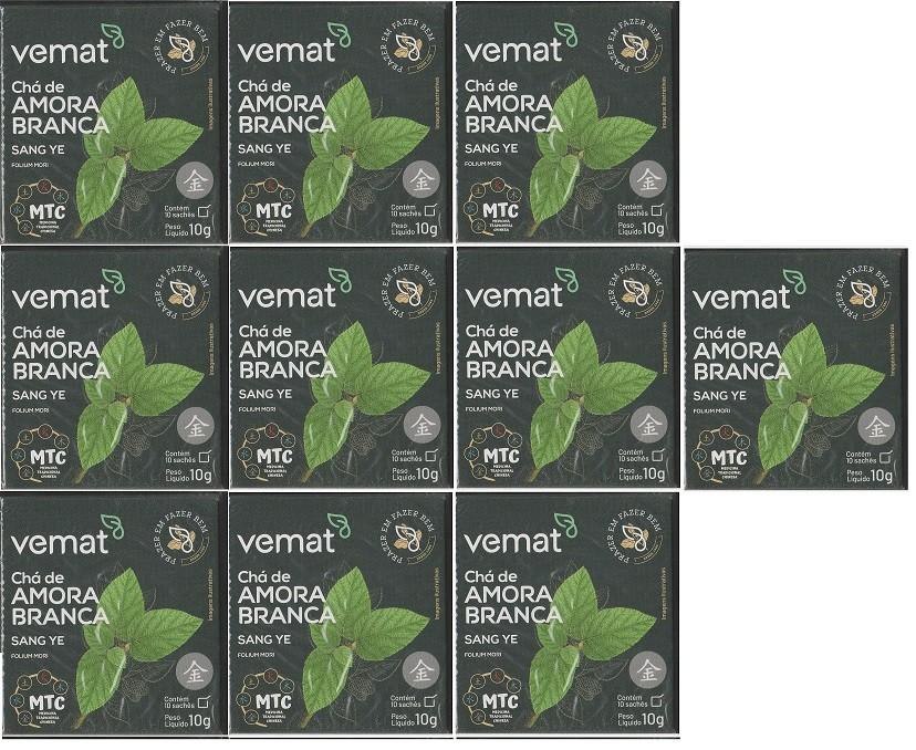 Cha Amora Branca (diabetes,resfriados) 10 saches Vemat 10 Cx
