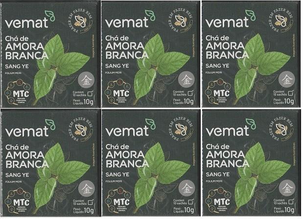 Cha Amora Branca (diabetes,resfriados) 10 saches Vemat 6 Cx