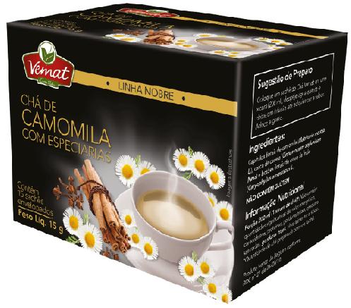 Cha Camomila Com Especiarias 15 Sches 15g Vemat