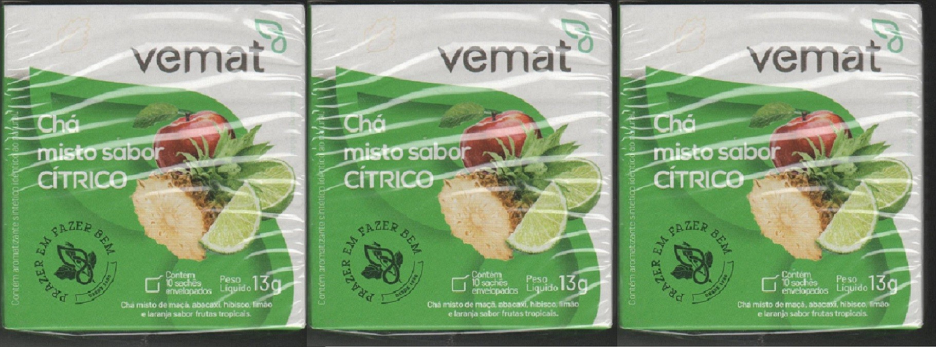 Cha Citrico (Limao, laranja, hibisco e maça) 10 Saches 3 cxs