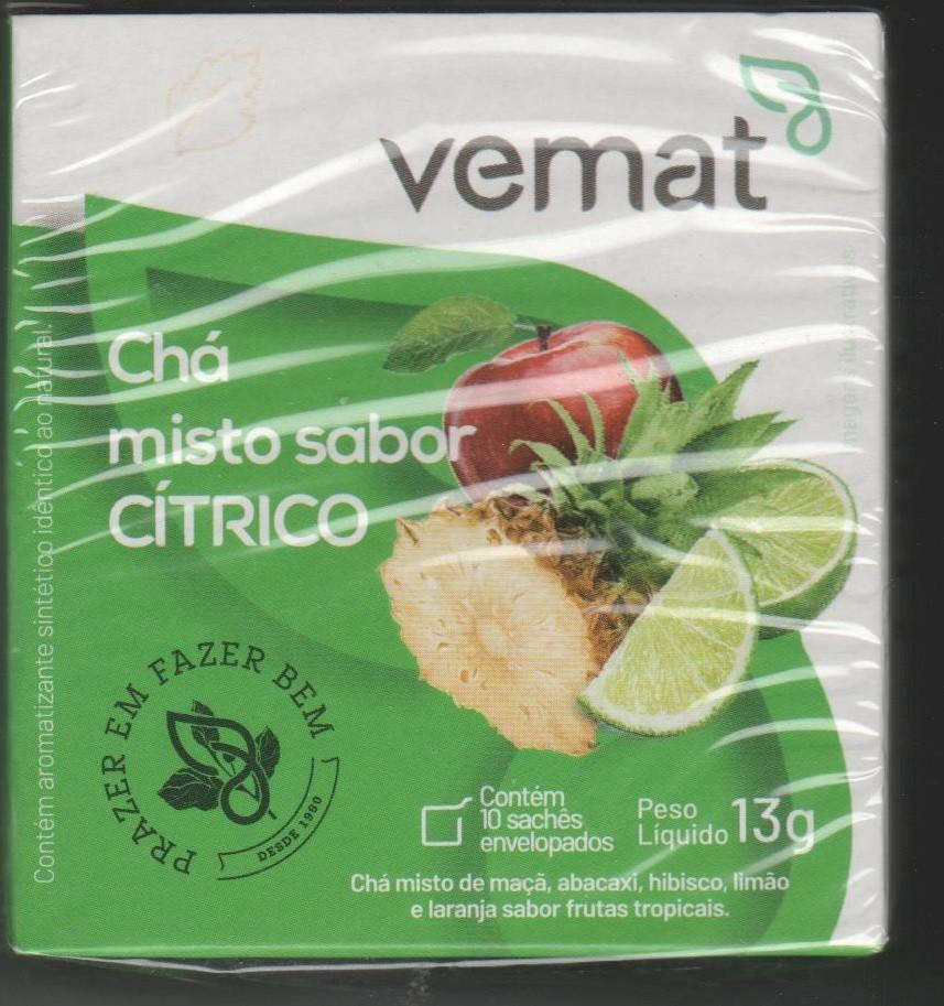 Cha Citrico (Limao, laranja, hibisco e maça) VEMAT 10 Saches