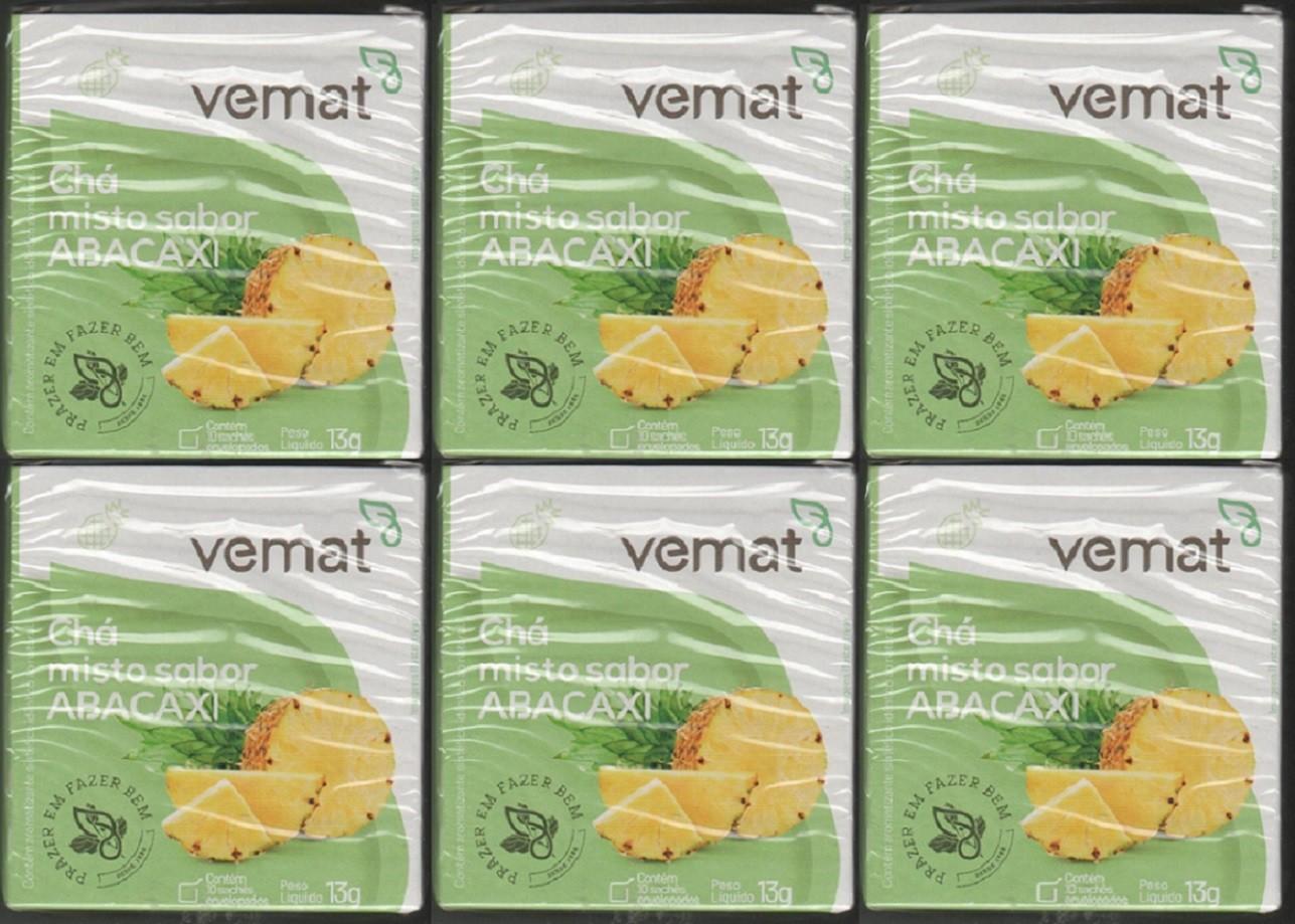 Cha De Abacaxi Vemat 10 Saches 6 Caixas
