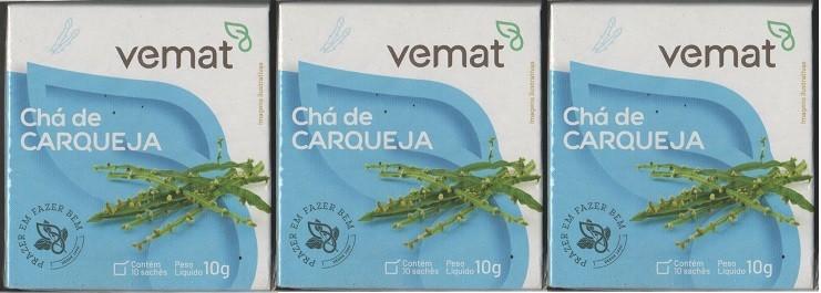 Cha De Carqueja 10 Saches 10g Vemat 3 Caixas