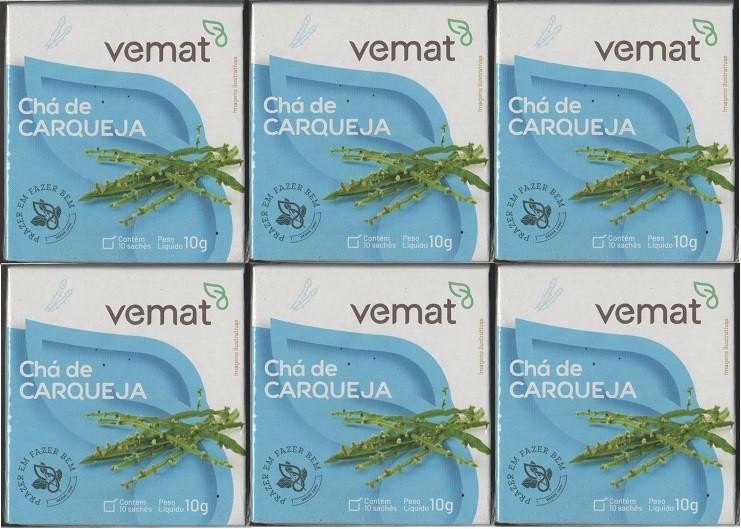 Cha De Carqueja 10 Saches 10g Vemat 6 caixas