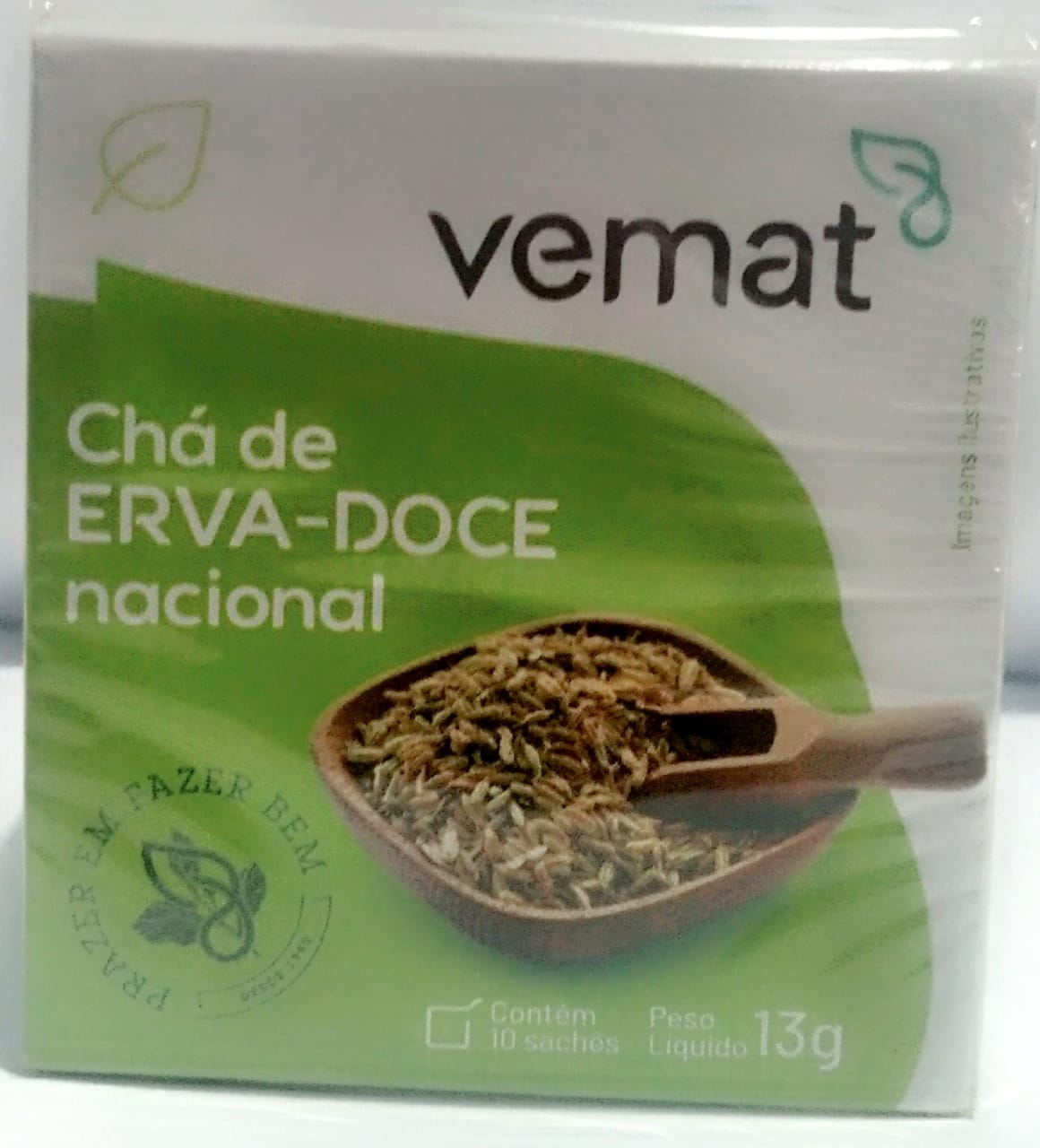 Cha De Erva Doce Nacional 10 Saches 10 g Vemat 10 Caixas